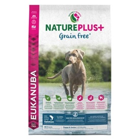 Eukanuba NaturePlus+ Graan vrij - Puppy en Junior All Breeds Salmon