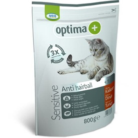 AVEVE Optima+ Adult sensitive cat anti hairball