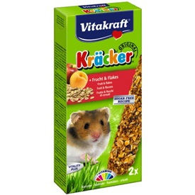 Vitakraft Kräcker voor Hamsters met Fruit en Flakes 2 pc