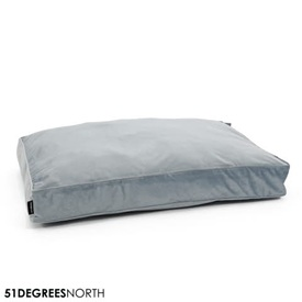 51 Degrees North Velvet - Boxpillow - Velour Shadow Blue Blauw