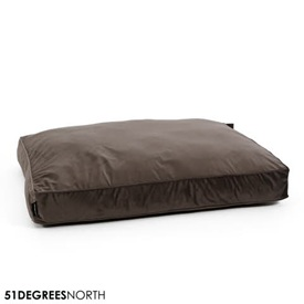 51 Degrees North Velvet - Boxpillow - Velour Titanium Grijs